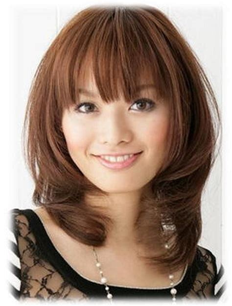 hairstyles with bangs for round faces 2013 medium hairstyles for round faces asian latest hairstyle