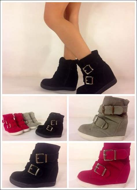 new kid s fashion lace up high top ankle wedge heels