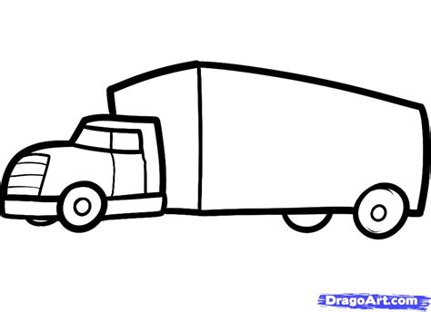 moving truck coloring page how to draw a truck for kids step by step cars for kids