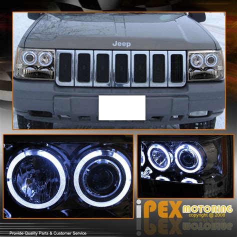 jeep grand cherokee zj dual halo projector led