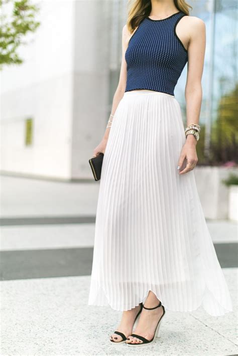8 Figure Loving Skirts For Summer by Who To Wear Accordion Skirt With Crop Top Designers
