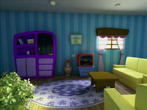 cartoon living room cartoon scene living room by diogoespindola on deviantart