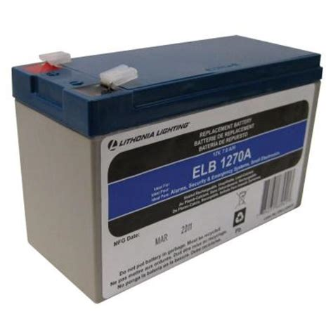 Home Depot Batteries Lithonia Lighting 12 Volt 7 Replacement Battery Elb