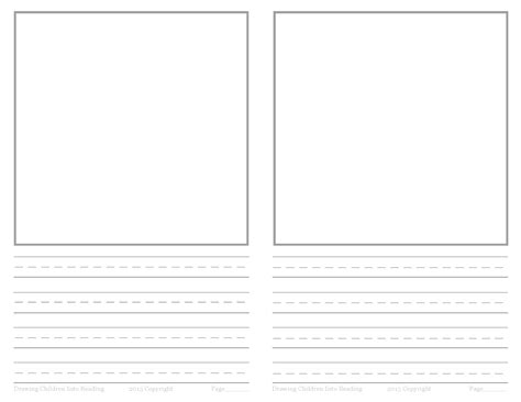 lined paper with drawing box income statement layout