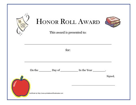 luxury gallery of honor roll certificate business cards