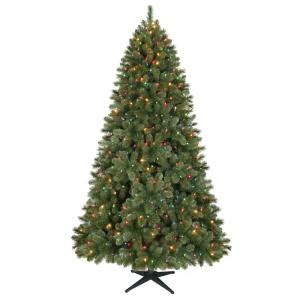 home holiday 7 5 ft led pre lit wesley pine christmas