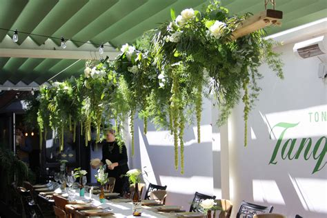 Beam Decoration by Wedding Flower Beam Decoration With Textured Foliage And