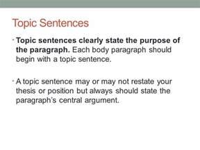 Topic Sentence Argumentative Essay by Persuasive Essay Paragraphs Ppt
