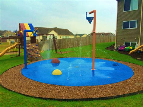 playground padding for backyard water play for your backyard a spray park for your home
