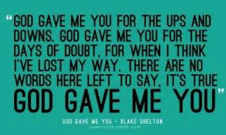 dave barnes i and always will lyrics god gave me you for the ups and downs i you