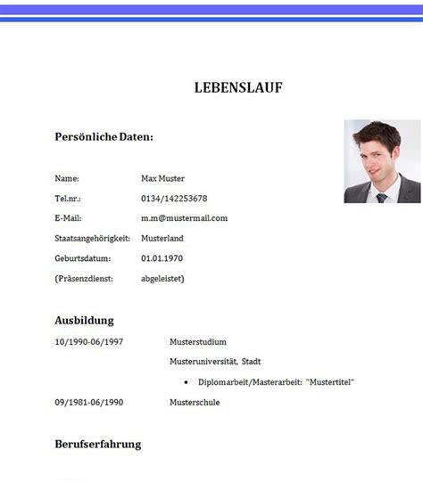Lebenslauf Muster Student Praktikum Lebenslauf Vorlage F 252 R Studenten Erste 0254d7693