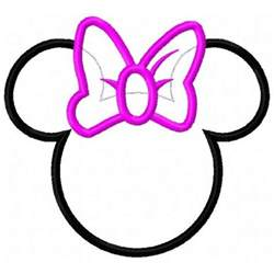minnie mouse outline head free download clip art free