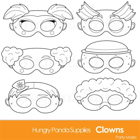 printable clown mask printable clown mask images reverse search