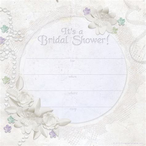bridal shower invite template free printable invitations ivory dreams bridal