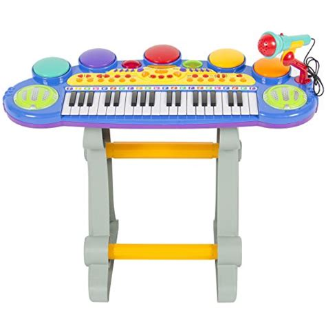 Toddler Keyboard With Microphone And Stool by Musical Electronic Keyboard Organ Microphone Stool