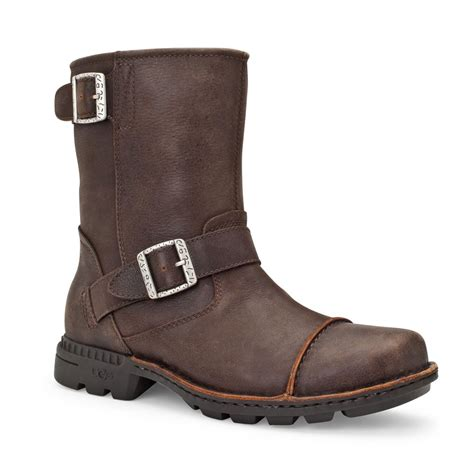 ugg australia rockville ii mens biker pull on boots ugg
