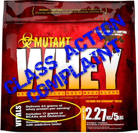 Mutant Protein Whey fit foods lawsuit alleged mutant whey amino acid spiking