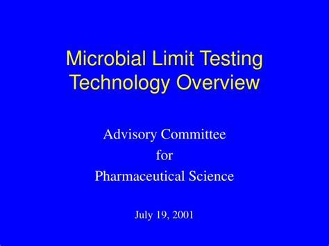 Test Technology Overview Ppt Download | ppt microbial limit testing technology overview