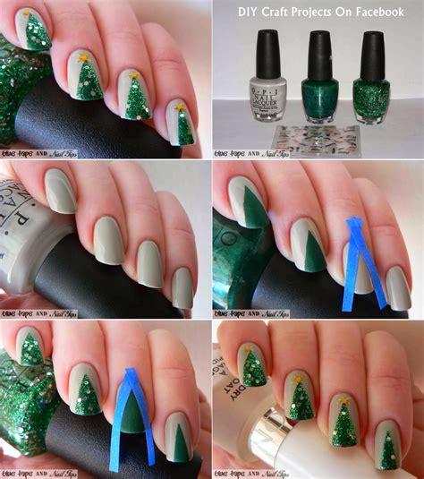 xmas nail art tutorial easy christmas nail art designs diy 2014