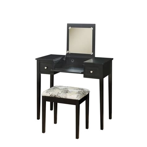 linon vanity set with butterfly bench best 25 black vanity table ideas on pinterest
