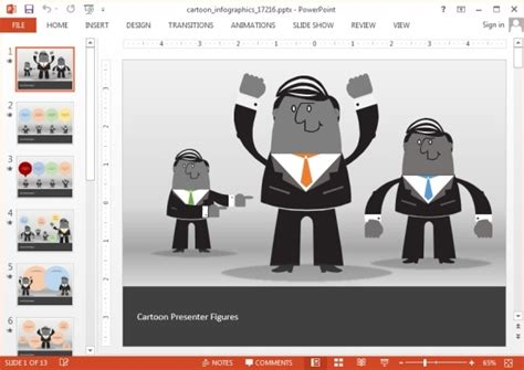 create animated videos online with our video templates animated cartoon infographics template for powerpoint