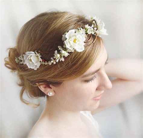 flower girl hair accessories wedding hair accessories rose wedding white rose hairpiece 2228731 weddbook