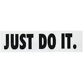 Kaos Premium Nike Just Do It White nike just do it logo vinyl sticker decal black