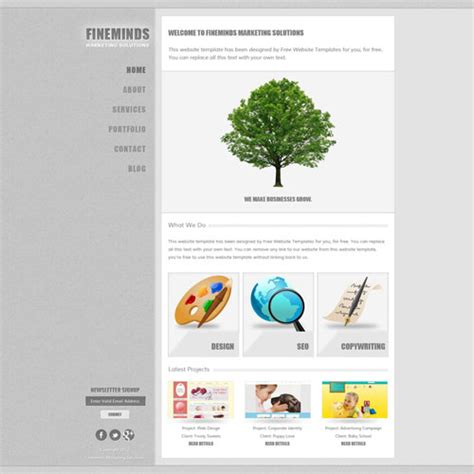 free download website templates for advertising marketing website template free website templates