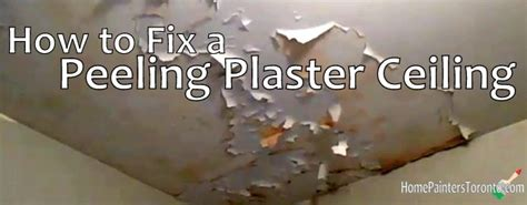 Why Does Paint Peel Ceiling by How To Fix A Peeling Plaster Ceiling
