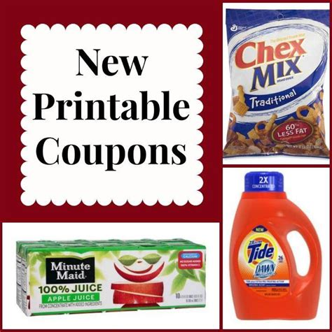 printable tide and downy coupons new printable coupons tide chex mix downy minute maid