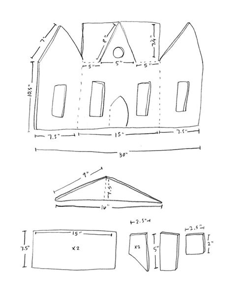 haunted house template printable begin by cutting down