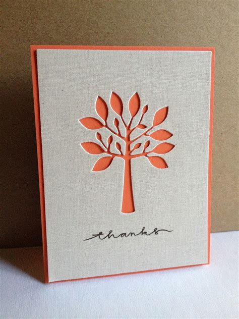 how to make cut out cards i m in autumn tree