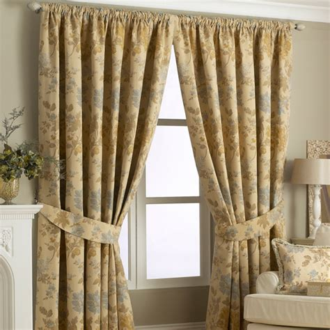 gold floral curtains berkshire floral woven lined pencil pleat curtains gold 66
