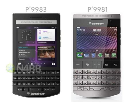blackberry porsche design porsche design blackberry p9883 smartphone leaked