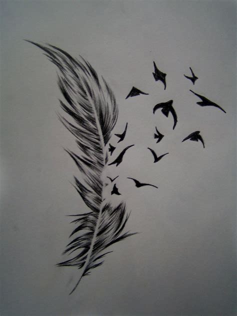 feather into birds tattoo best tatto design bird feather designs