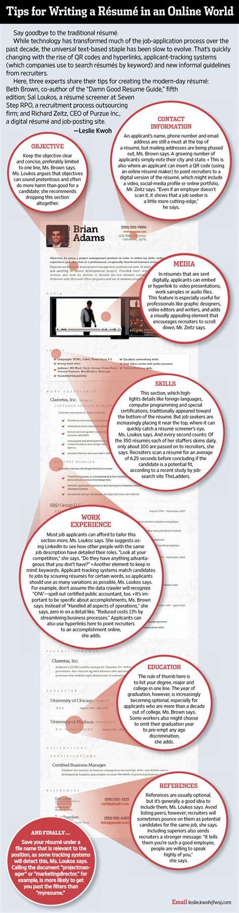Resume Tips Wall Journal Wall Journal Brian Pr