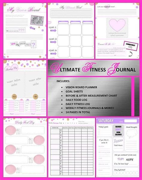 printable fitness journal pages 45 best coloring pages images on pinterest fitness