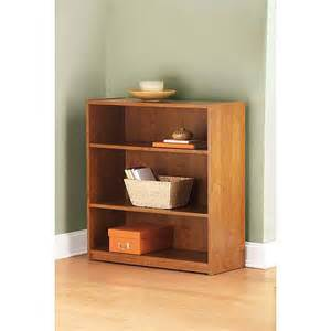 mainstays 3 shelf bookcase alder furniture walmart com