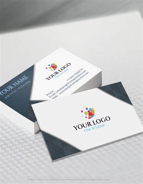 logo maker free for business card template free business card maker app 3d wave business card template