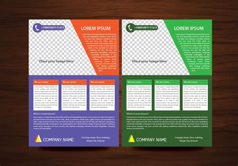 free leaflet design website vector brochure flyer design layout template in a4 size