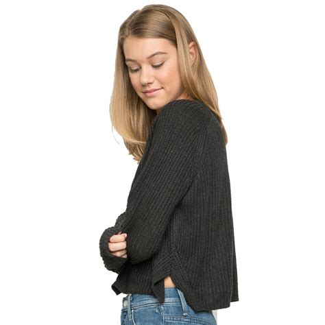 Sweater Realpicture By Conbaid autumn winter new 2017 crop sweater casual sweaters and pullovers knitted jumpers
