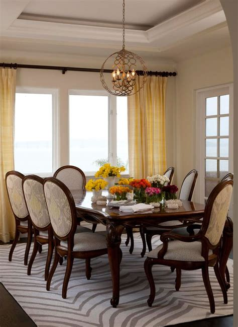 Light Colored Dining Room Sets Light Colored Upholstery On The Dining Room Chairs Neutralizes The Visual Weight Created By The