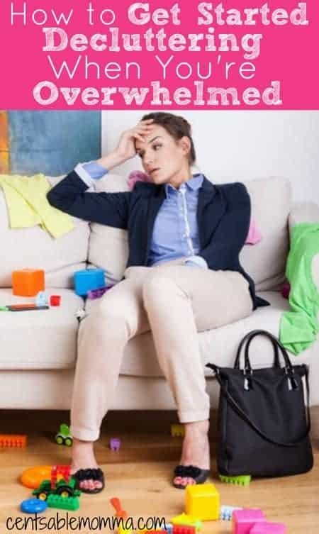 8 Tips To Get Started With Decluttering by How To Get Started Decluttering When You Re Overwhelmed