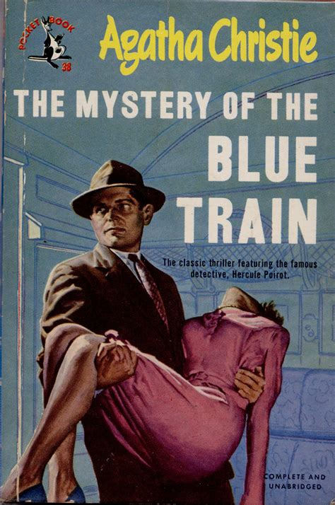 0008129487 the mystery of the blue the mystery of the blue train pulp covers