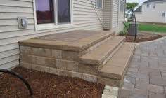 Patio Pavers Kingston Patio Pavers Last Step Is To Build Steps B I M