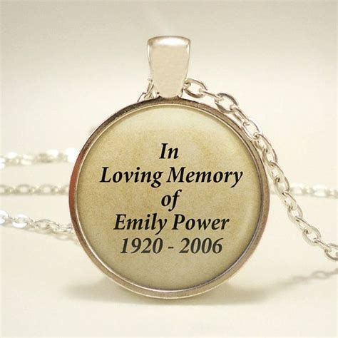 custom quot in loving memory quot keepsake pendant in a pendant