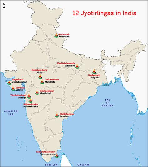 In India by 12 Jyotirlingas In India Jyothirlingam Temples Of Lord Shiva
