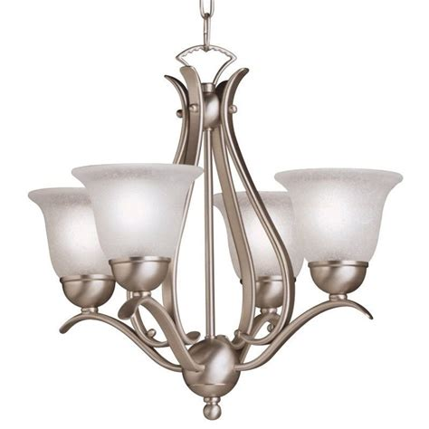 Small Glass Chandeliers Kichler 2019ni Brushed Nickel Dover 4 Light 18 Quot Wide