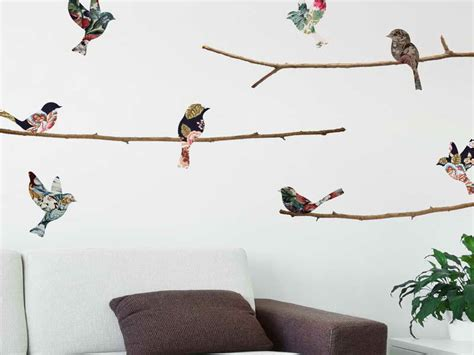 bird wallpaper home decor walls small branch bird wallpaper for walls bird