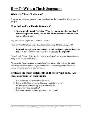 High School Thesis Writing by How To Write A Thesis Statement High School Wp Symposium